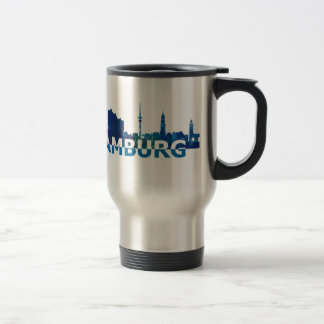 Mug De Voyage Silhouette d'horizon de Hambourg