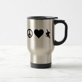 Mug De Voyage Snowboarding d'amour de paix