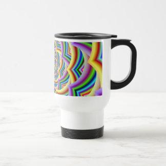 Mug De Voyage Spirale incurvée colorée de Chevron
