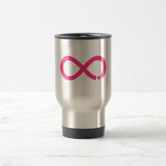 Mug De Voyage Symbole rose d'infini avec l'étoile