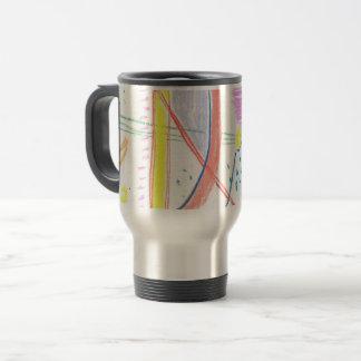 Mug De Voyage thermoshow avec le modèle abstrait lumineux