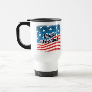 Mug De Voyage Uni nous tenons le drapeau américain