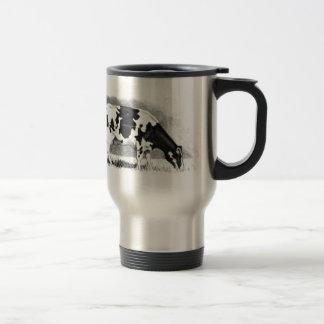 Mug De Voyage Vache du Holstein : Dessin au crayon : Ferme, pays