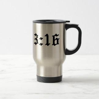 Mug De Voyage vers chrétien de bible de 3h16 de John