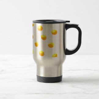 Mug De Voyage version 1 de motif de citron