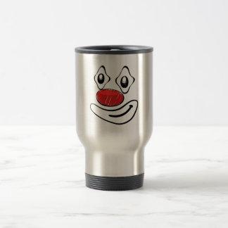Mug De Voyage Visage maladroit de smiley de jaune de clown