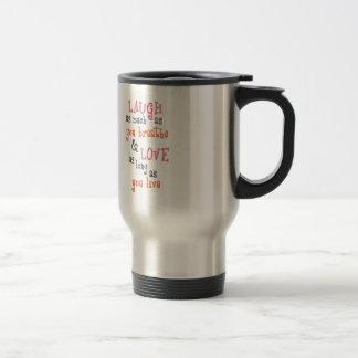 Mug De Voyage Vivent la citation simple d'amour de rire