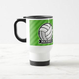 Mug De Voyage Volleyball sur les rayures vertes