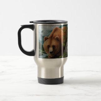 Mug De Voyage Voyage d'ours gris/tasse de banlieusard