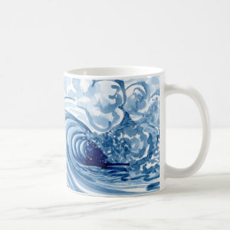 Mug Décor moderne contemporain de vague bleue