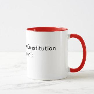 Mug Défendez la constitution, tout l'elle
