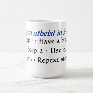 Mug Devenant un athée dans 3 étapes faciles