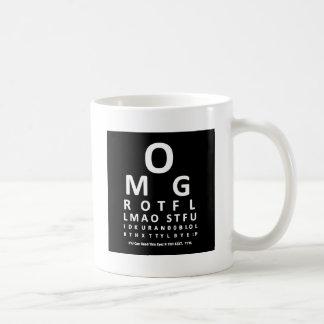 Mug Diagramme d'oeil de l'intoxiqué des textes