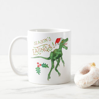Mug Dinosaure drôle Eatings de Velociraptor de Noël