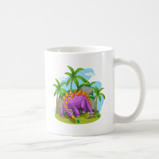 Mug Dinosaure pourpre se tenant au sol
