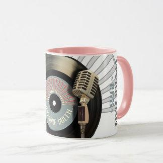 Mug Disque vinyle de la Reine de karaoke rétros et MIC