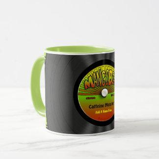 Mug Disque vinyle personnalisé de reggae