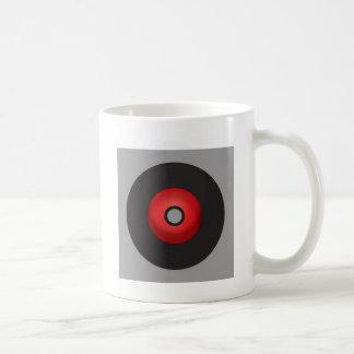 Mug Disque vinyle rouge de vieille école
