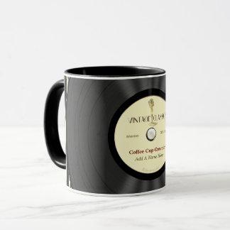 Mug Disque vinyle vintage personnalisé de microphone