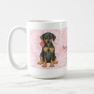 Mug Dobermann rose de Valentine
