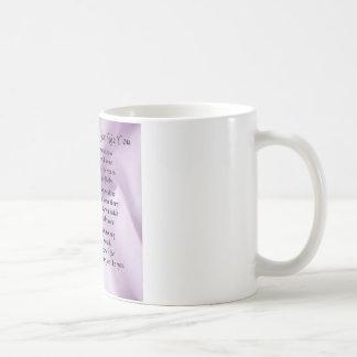 Mug Domestique de poème d'honneur - conception en soie