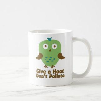 Mug Donnez une huée ne polluent pas