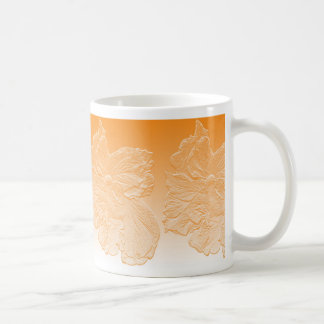 Mug double basrelief d'orange de fleur de ketmie de