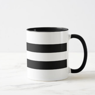 Mug Double conception noire moderne et contemporaine