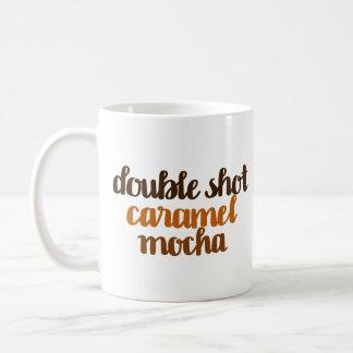 Mug Double moka de caramel de tir