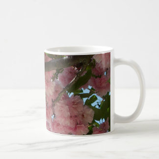 Mug Double ressort rose se développant des cerisiers