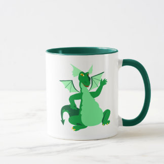 Mug Dragon vert de ondulation