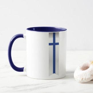 Mug Drapeau abstrait de la Finlande, couleurs