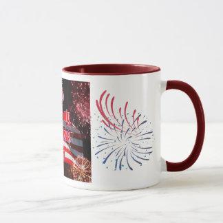 Mug Drapeau américain d'Elko 4 juillet