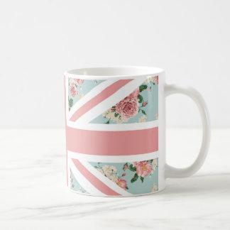 Mug Drapeau anglais d'Union Jack de roses