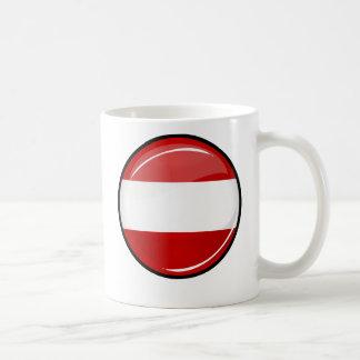 Mug Drapeau autrichien rond brillant