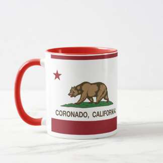 Mug Drapeau Coronado d'état de la Californie