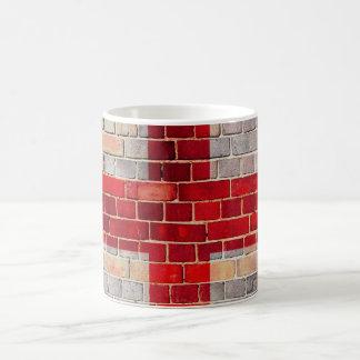 Mug Drapeau de l'Angleterre sur un mur de briques