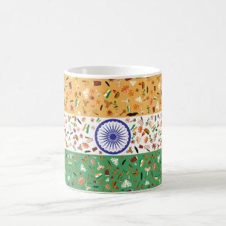 Mug Drapeau de l'Inde avec les articles culturels