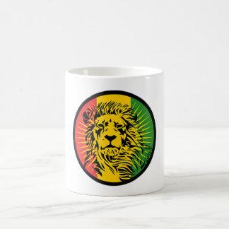 Mug drapeau de lion de reggae de rasta