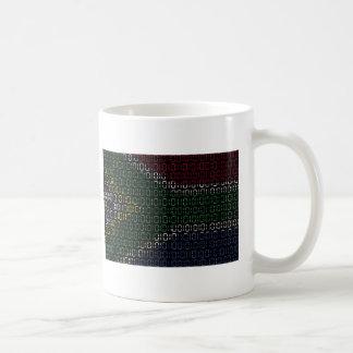 Mug drapeau numérique Afrique du Sud