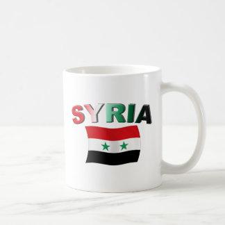 Mug Drapeau onduleux de la Syrie