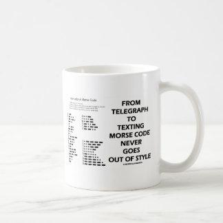 Mug Du télégraphe au code Morse de service de