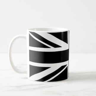 Mug ~ d'Union Jack noir et blanc