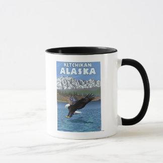 Mug Eagle chauve plongeant - Ketchikan, Alaska