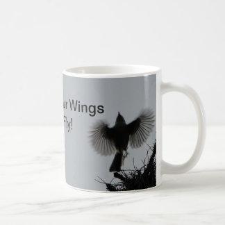 Mug Écartez vos ailes et mouche, mésange tuftée