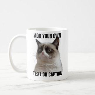 Mug Éclat grincheux de chat - ajoutez votre propre