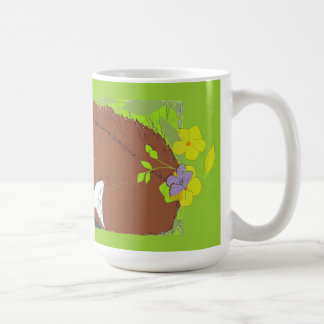 Mug Écureuil rouge avec des papillons et des fleurs