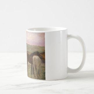 Mug Edgar Degas - chevaux dans un pré