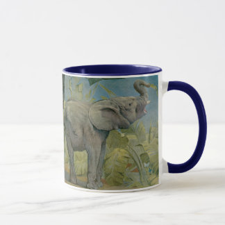 Mug Éléphant africain vintage dans la jungle, EJ