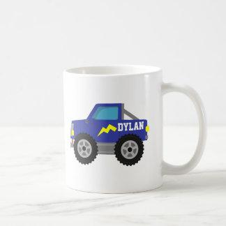 Mug Emballant le camion de monstre bleu, pour des